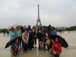 Another group shot. I love the Eiffel Tower