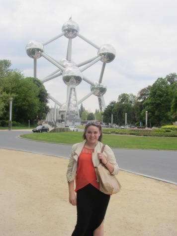 At the Atomium, we went up to the highest sphere! (Brussels)